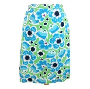 Hanna Andersson Blue & Green Floral Skirt